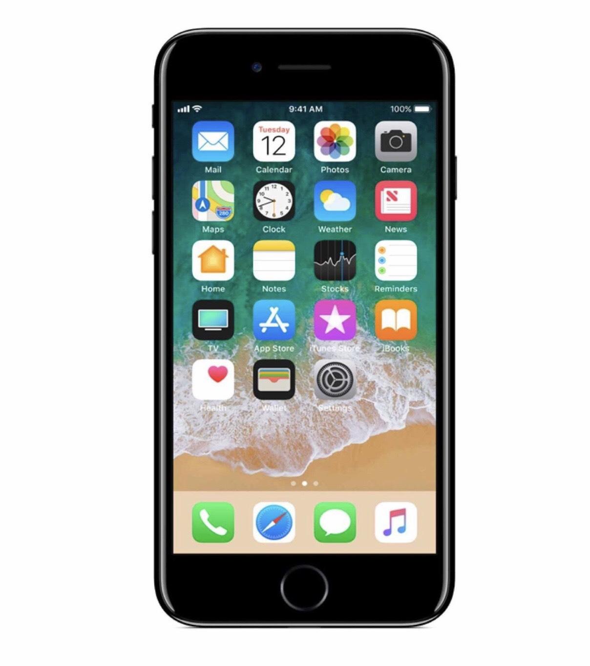 Smartphone 4.7 Apple iPhone 7 -32 Go, Noir (Reconditionné - Silver) - switchbythekase.com