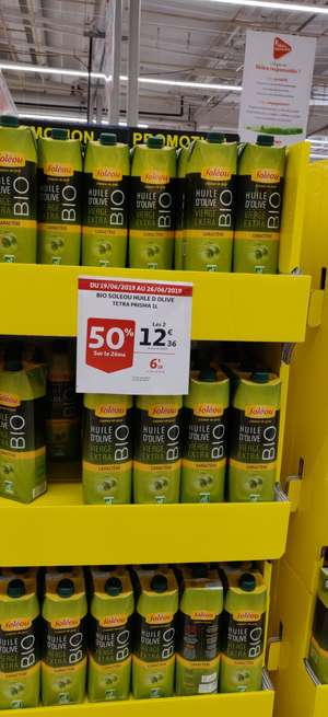 Lot de 2 Huiles d'olive bio Extra vierge Soléou: 2 x 1 L - Leers (59)