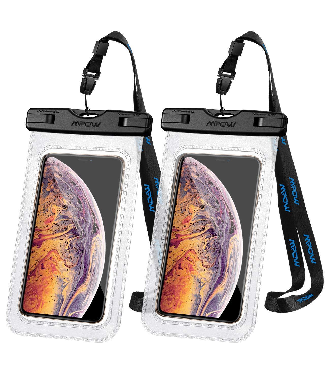 """Lot de 2 Pochettes étanches Mpow pour Smartphone jusqu'à 6.5"""" (Vendeur tiers)"""