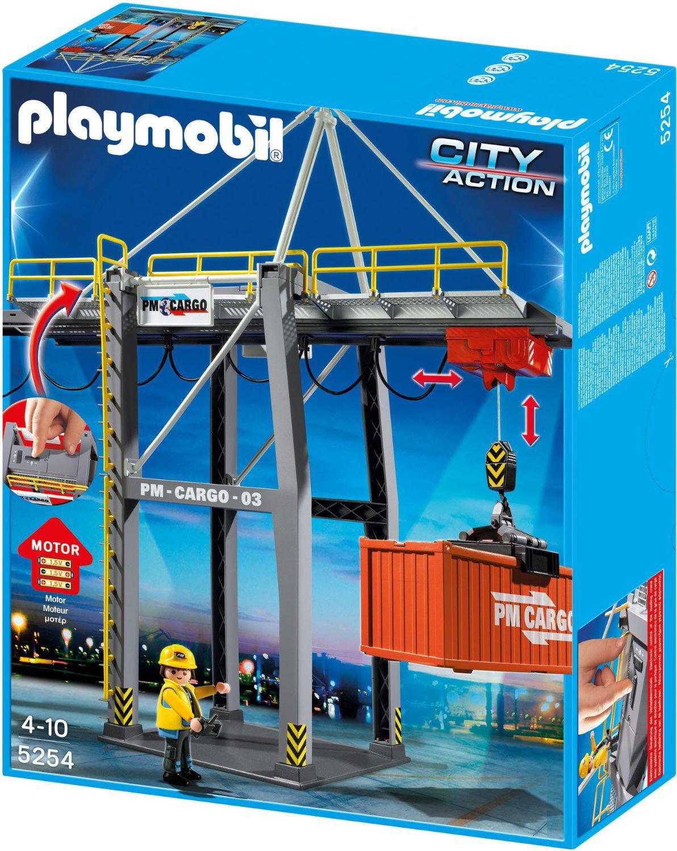 Jeu de Construction  Playmobil 5254 - Portique Électrique à Conteneurs