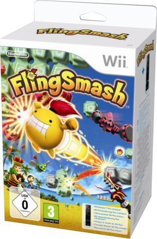 Pack Flingsmash + Wiimote Plus pour Wii / Wii U - Noire