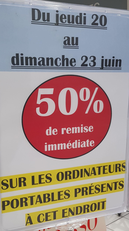 50% de réduction sur une sélection de PC portables - Mareuil-lès-Meaux (77)