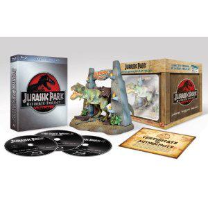 Jurassic Park Ultimate Trilogy Blu-ray Edition collector limitée édition figurine T-Rex