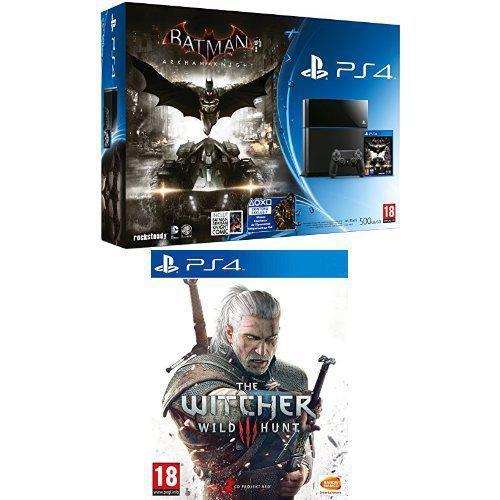 Console PlayStation 4 500 Go + Batman Arkham Knight + Comics + the Witcher 3