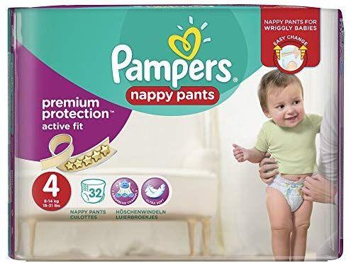 Lot de 3 Paquets de Couches-culottes Pampers Premium Active Fit (Taille 4) - 3 x 32