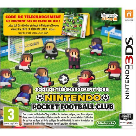 Jusqu'à 50% de réduction sur le rayon jeux vidéo - Ex : Nintendo Pocket Football Club sur 3DS (7.5€ sur la carte)