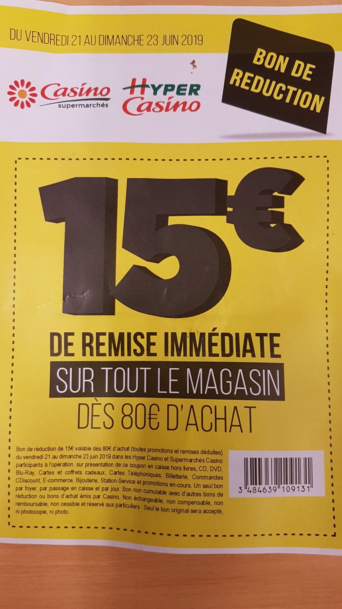 15€ de réduction sur tout le magasin dès 80€ d'achat - Toulouse les demoiselles (31)