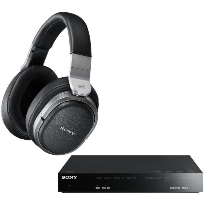 Casque Hi-Fi Circum Aural sans-fil Sony MDR-HW700DS - Surround 9.1