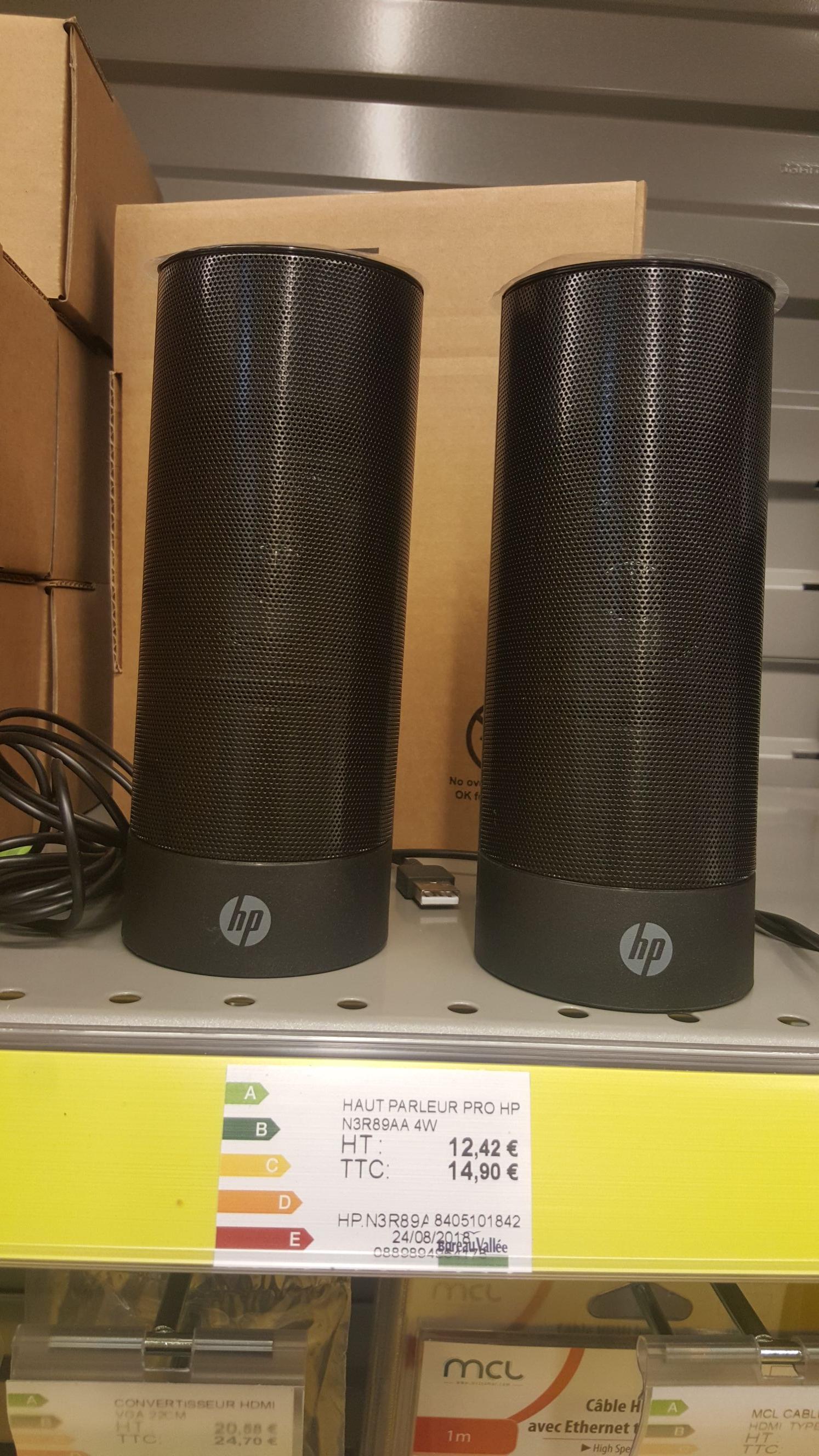 Paire de Haut-parleurs USB HP N3R89AA - Romilly-sur-Seine (10)