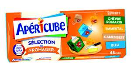 2 Boites Apéricube - 2 x 48 Cubes, Plusieurs variétés (via BDR)