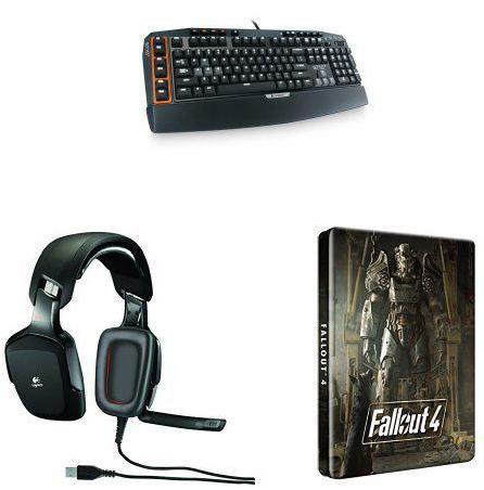 Clavier et micro-casque Gaming Logitech G710+ et G35S + Fallout 4 (édition steelbook - PC)