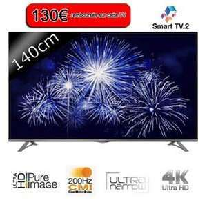 """TV 55"""" Thomson 55UA6406 - Smart TV -  UHD (via ODR 130€ + 2 bons d'achat de 50€)"""