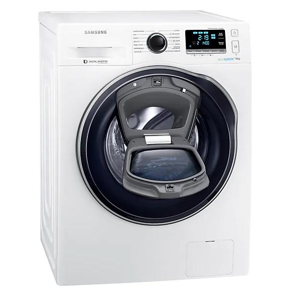 Lave-linge connecté Samsung WW90K6414QW (AddWash & Eco Bubble) - 9 kg, 1400 trs/min, A+++ (Via ODR de 73.35€) - Livré à domicile