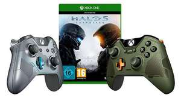 Jeu Halo 5 : Guardians sur Xbox One + Manette Xbox One Spartan Lock ou Master Chief