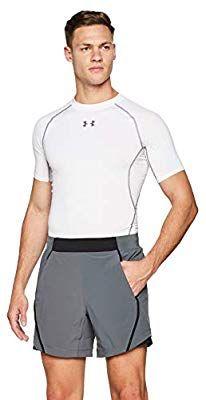 Short Homme Under Armour UA Speedpocket Linerless 6'' - Gris, Taille L