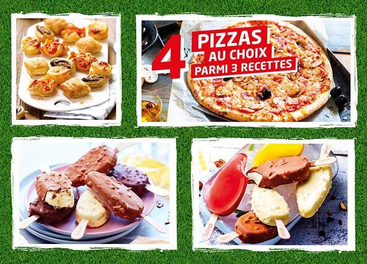 Formule foot Thiriet: 4 pizzas au choix parmi une sélection