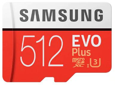 Cartes microSDXC Samsung Evo Plus - 512 Go