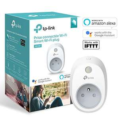 Prise connectée Wi-Fi TP-Link HS100(FR) - Compatible avec Google Home / Amazon