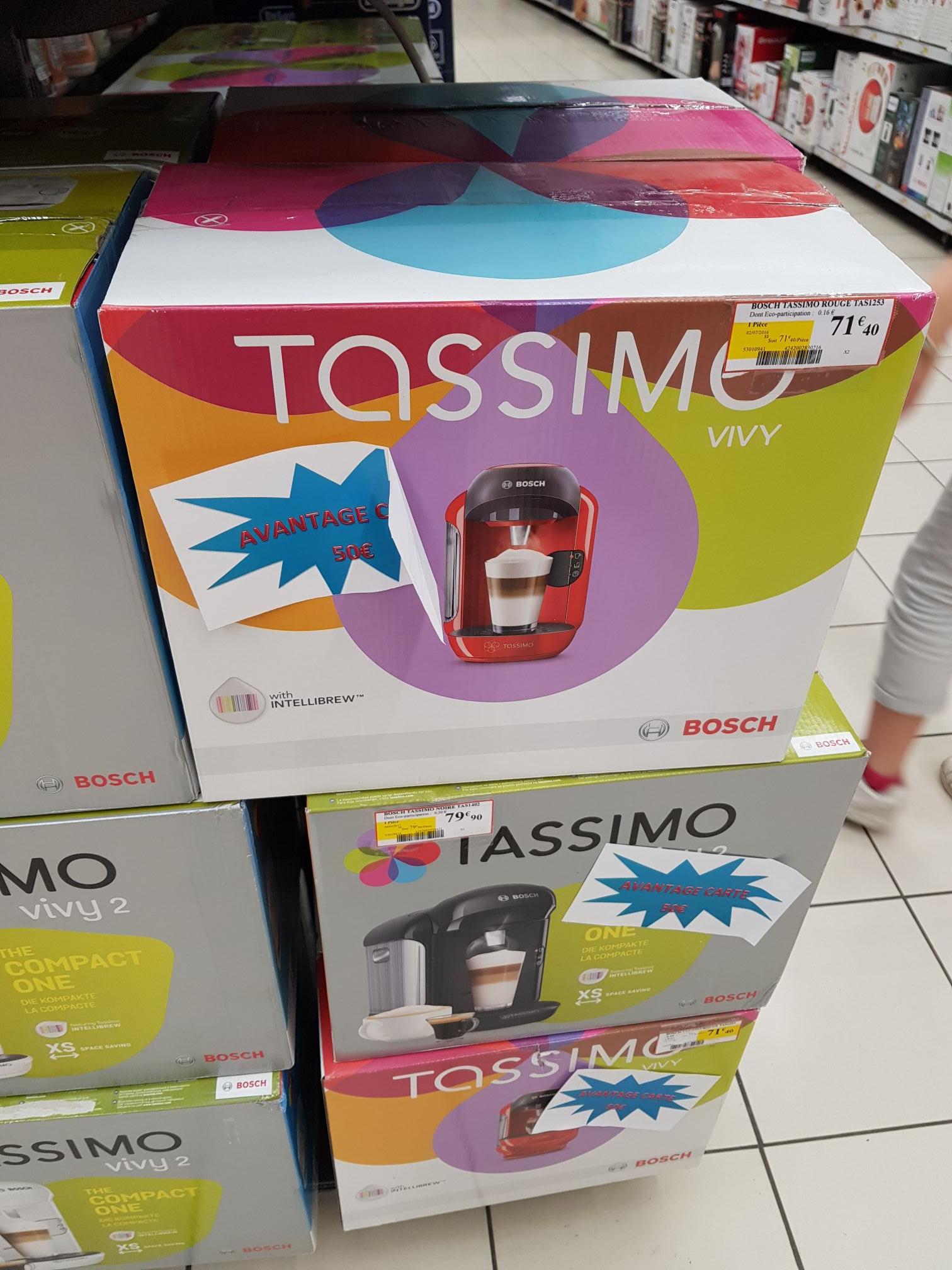 Sélection de Machine Tassimo en promotion - Ex: Machine à café Bosch Vivy Tassimo (Via 50€ sur la carte de fidélité) - Somain (59)