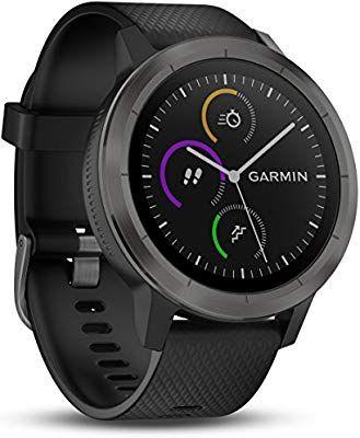Montre connectée GPS Garmin Vivoactive 3 Silver avec Cardio au poignet - Noir