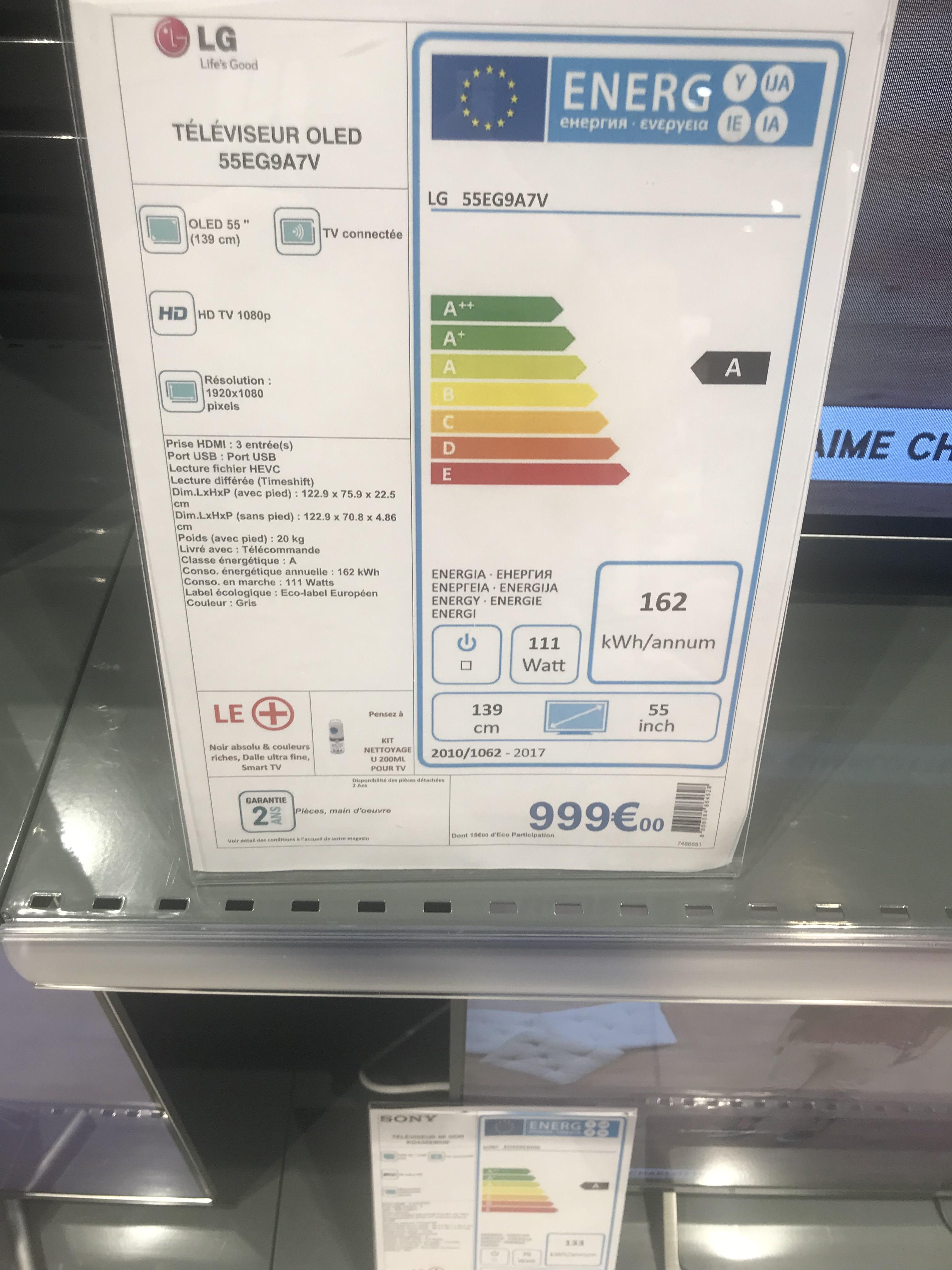 "TV OLED 55"" LG 55EG9A7V - Full HD, Smart TV - L'Horme (42)"
