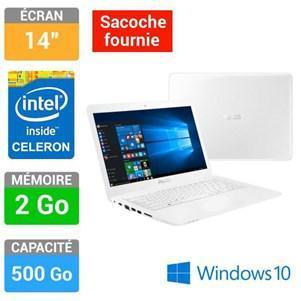 "PC Portable 14"" Asus L402MA-WX0139T (Intel Celeron N2840, 500 Go HDD) +   Sacoche"