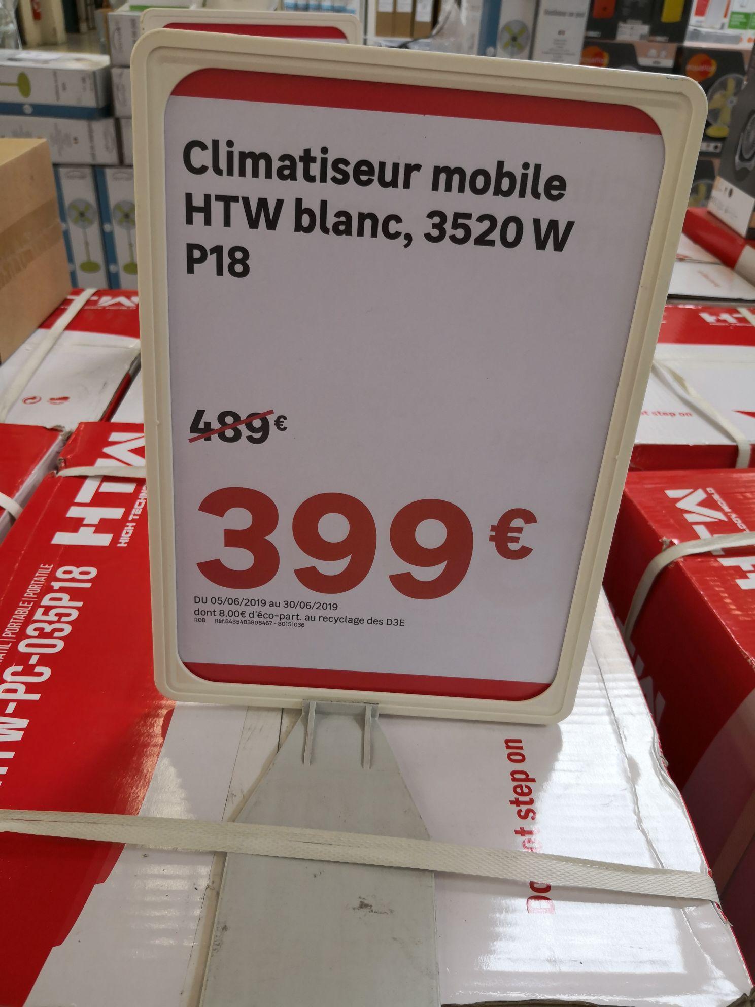 Climatiseur réversible mobile HTW P18 - 3520W, Blanc--55 db (Isneauville 76)
