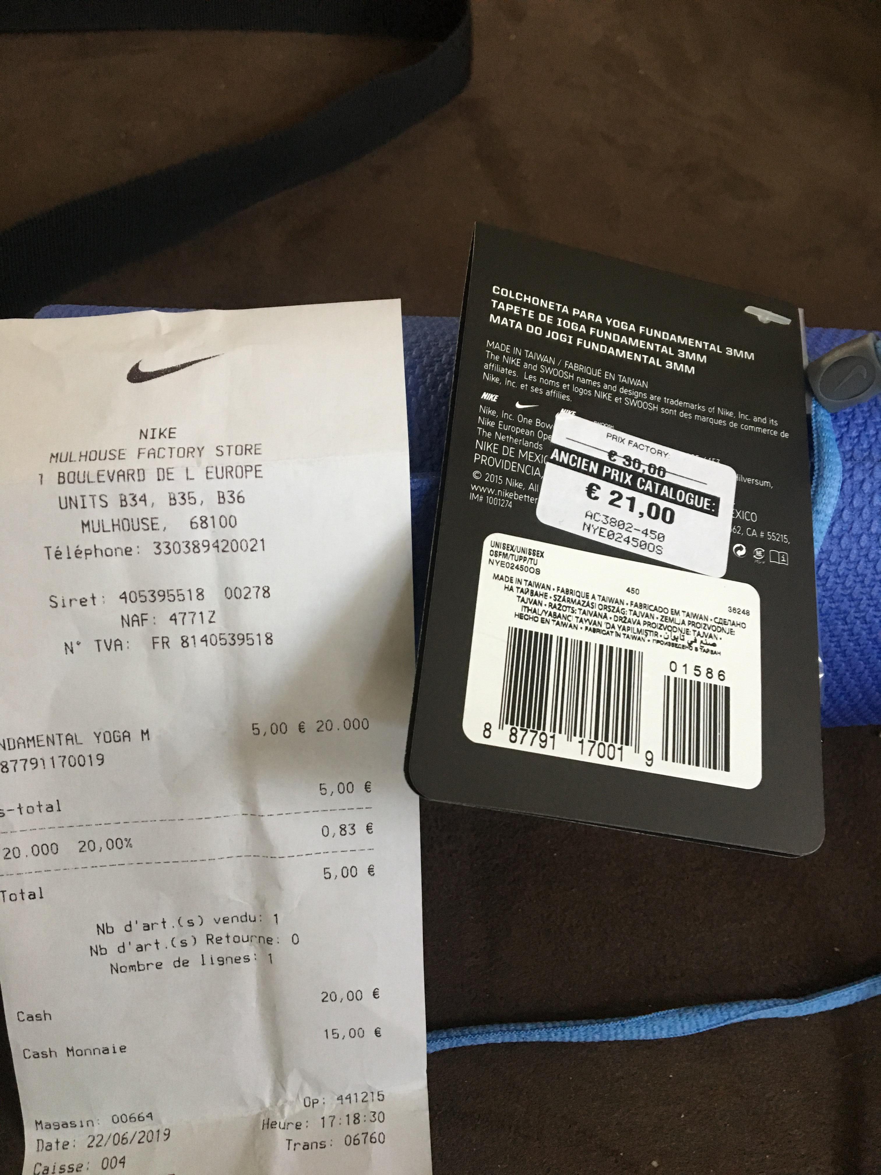 Tapis de Yoga Nike - Mulhouse (68)