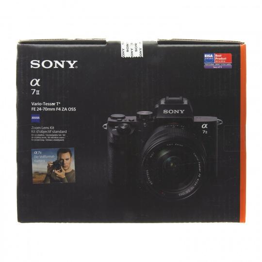 Appareil photo Hybride Sony Alpha A7 II + Objectif FE 24-70mm 4.0 ZA OSS - Noir