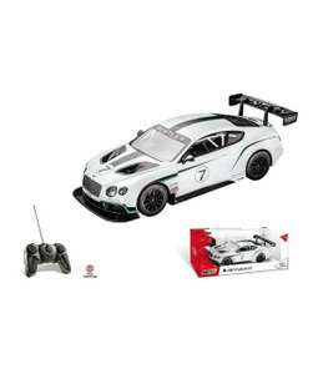 Voiture télécommandée Mondo Motors Bentley GT3 - Blanche, Echelle 1:14