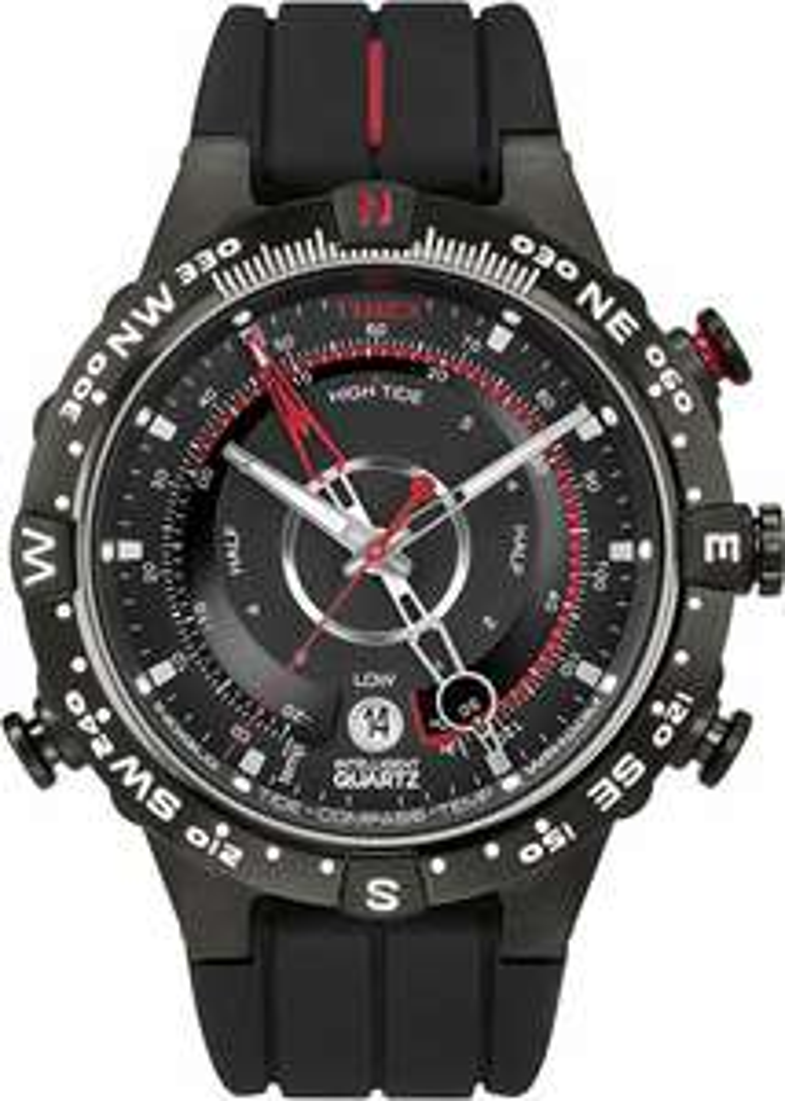 Montre Homme Analogique Timex Quartz - 45 mm, Bracelet en silicone, Noire