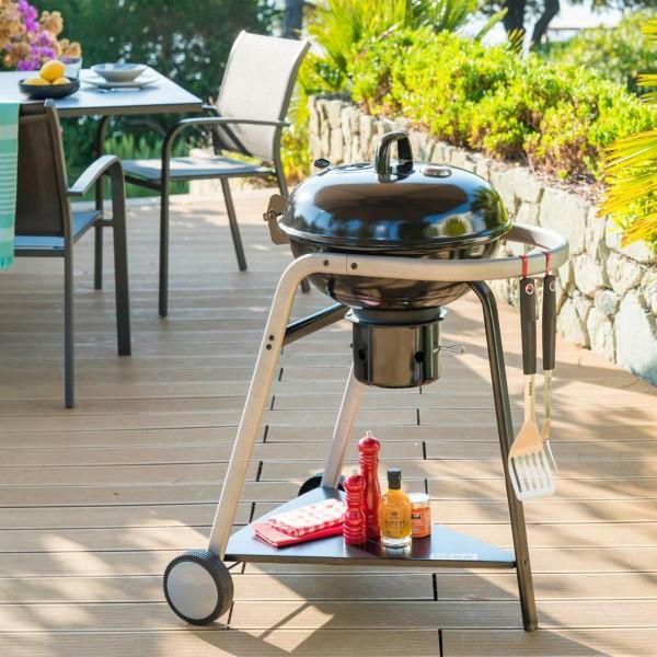 Barbecue à charbon en acier inoxydable Pyla - 46 cm