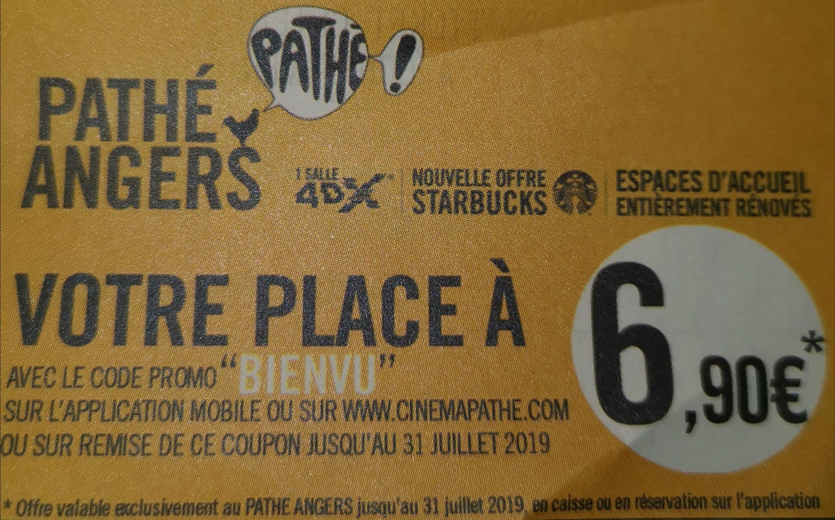 Une place de cinéma 2D - Angers (49)