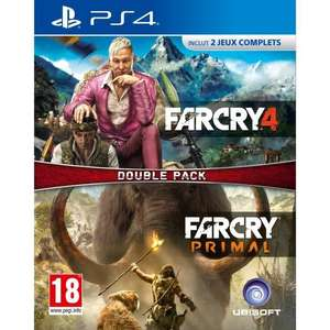 Double Pack Far Cry 4 + Far Cry Primal sur PS4 (1.90 en SuperPoints [clubR])
