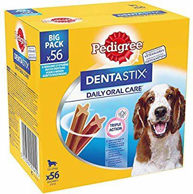 Pack de 56 bâtonnets Pedigree Dentastix pour chien moyen (10-25kg)
