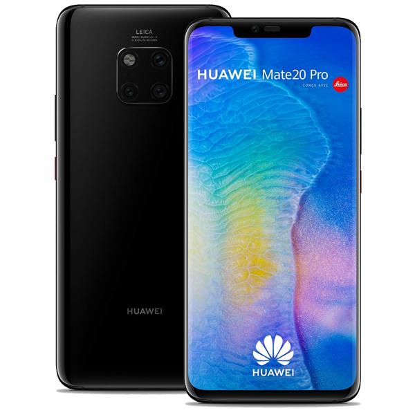 """Smartphone 6,39"""" Huawei Mate 20 Pro - 128 Go, Double SIM, Noir (+48,50€ en SuperPoints)"""