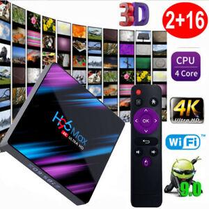 Box TV Android 4K H96 Max - Cortex-A53 RK3318, 2 Go de RAM, 16 Go, Bluetooth / Wi-Fi, Android 9.0, avec télécommande