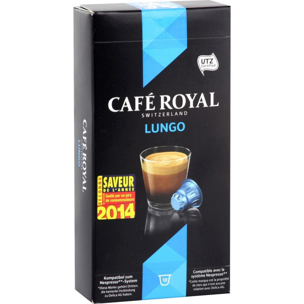 Lot de 10 boites de dosettes Café Royal compatibles Nespresso gratuites (via carte de fidélité + Shopmium + bon de réduction)