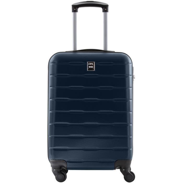 Valise Cabine City Bag ABS 4 Roues - 1,8Kg (50 x 20 x 30 cm - Plusieurs coloris)