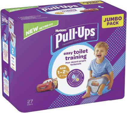 Lot de 2 paquets de couches-culottes Huggies Pull-Ups (via BDR) soit 54 couches