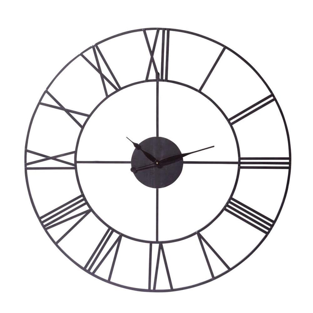 Jusqu'à 70% de réduction sur une sélection d'articles - Ex : Horloge industrielle en métal (Diamètre : 107 cm)
