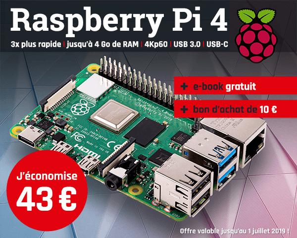 [Membres Elektor] Mini-PC Raspberry Pi 4 (Cortex-A72, 1 Go de RAM) + e-book (en anglais) + bon d'achat de 10€
