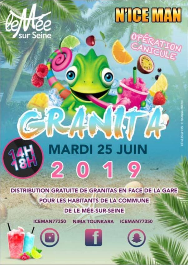 Distribution gratuite de glaces granitas - Mée-sur-Seine (77)