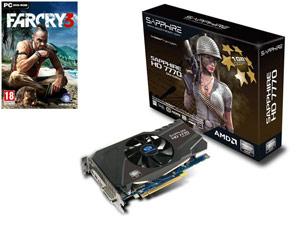 Carte graphique Sapphire Radeon HD7770 - 1Go + Jeu PC Far Cry 3 / Avec paiement via Buyster