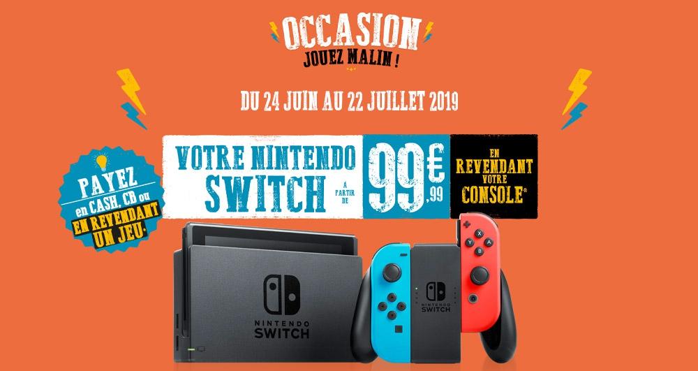 Console Nintendo Switch à partir de 99.99€ (sous condition de reprise d'une ancienne console)