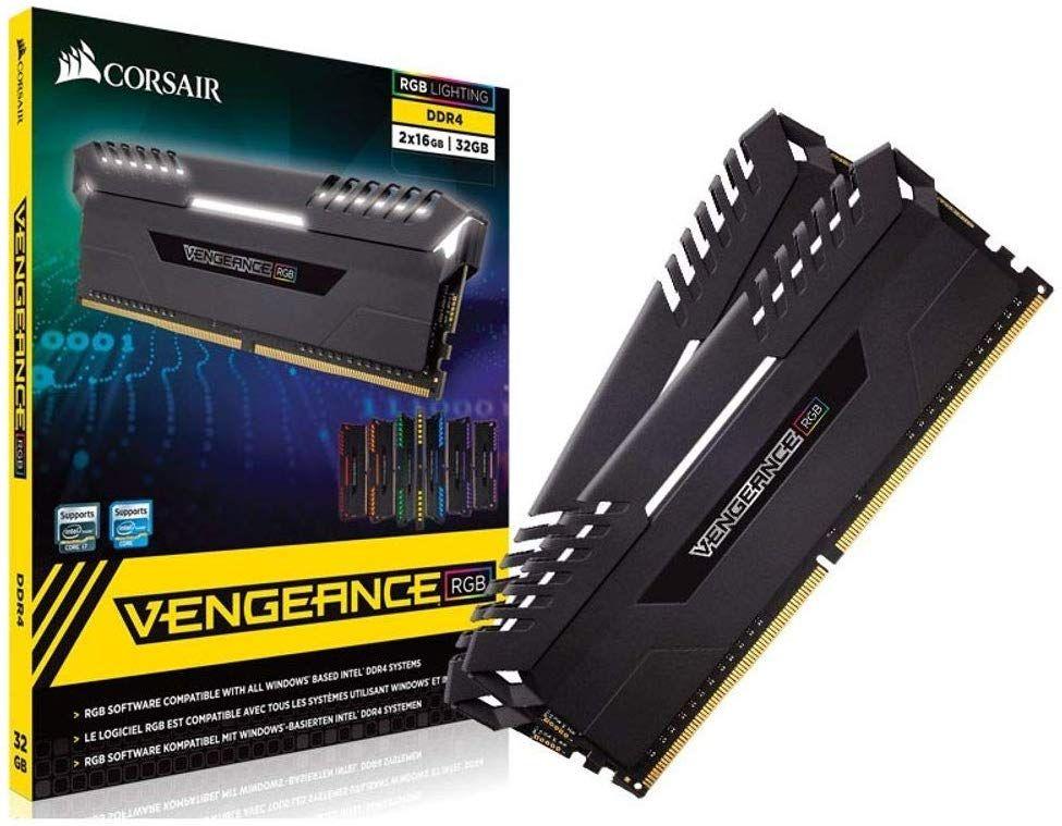 Kit mémoire RAM DDR4 Corsair Vengeance RGB - 32 Go (2 x 16Go), 3000Mhz, C16, XMP 2.0