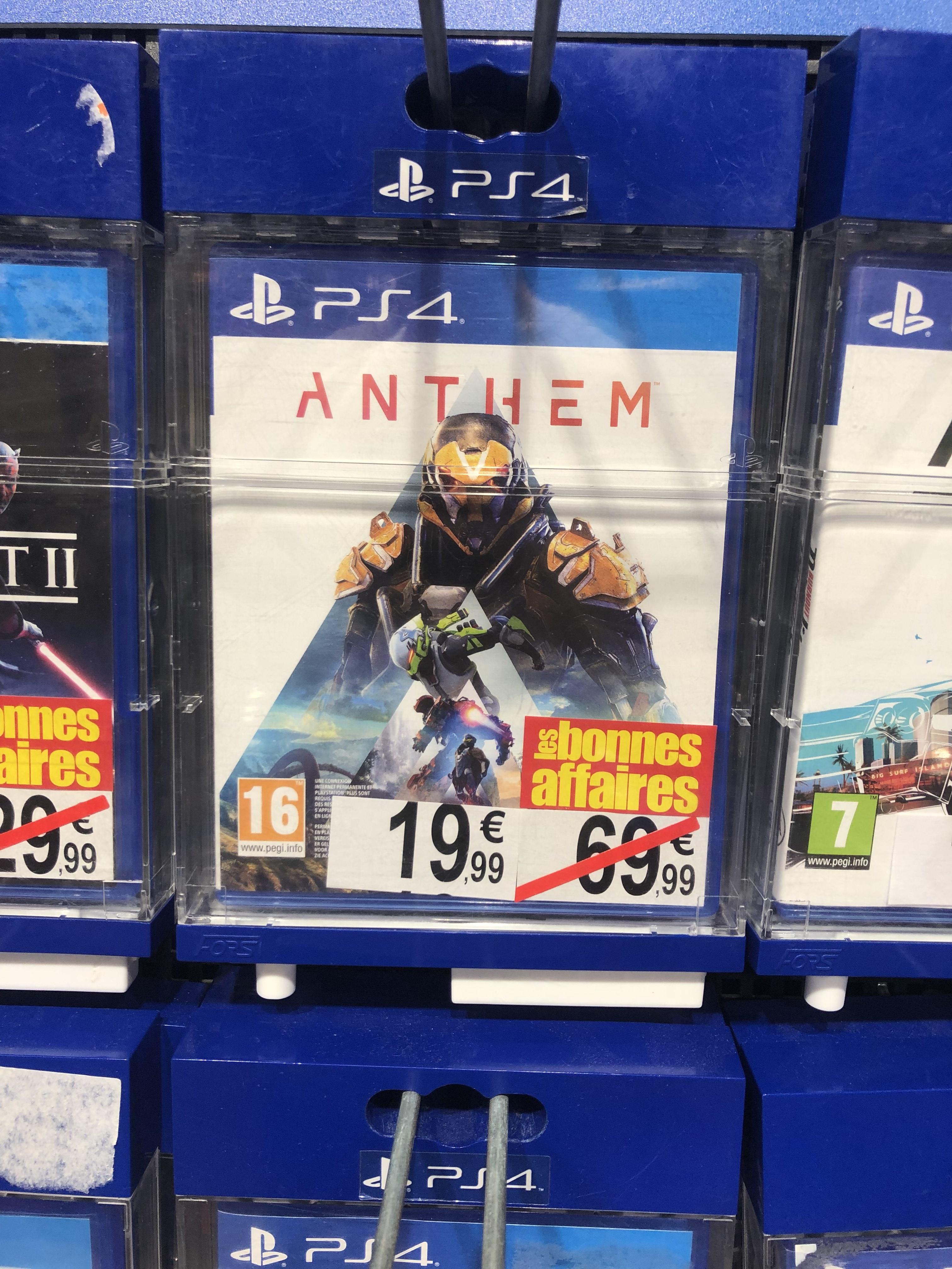 Anthem sur PS4 et Xbox One (CC Saint Sébastien 54)