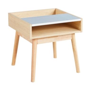 bout de canap scandinave colline s rigraphi gris ch ne. Black Bedroom Furniture Sets. Home Design Ideas