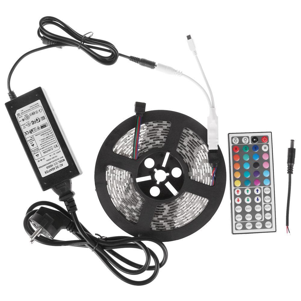 Bande LED RGB SMD 5050 - 60 led/m + Alim 3A + Contrôleur et télécommande IR 24 touches