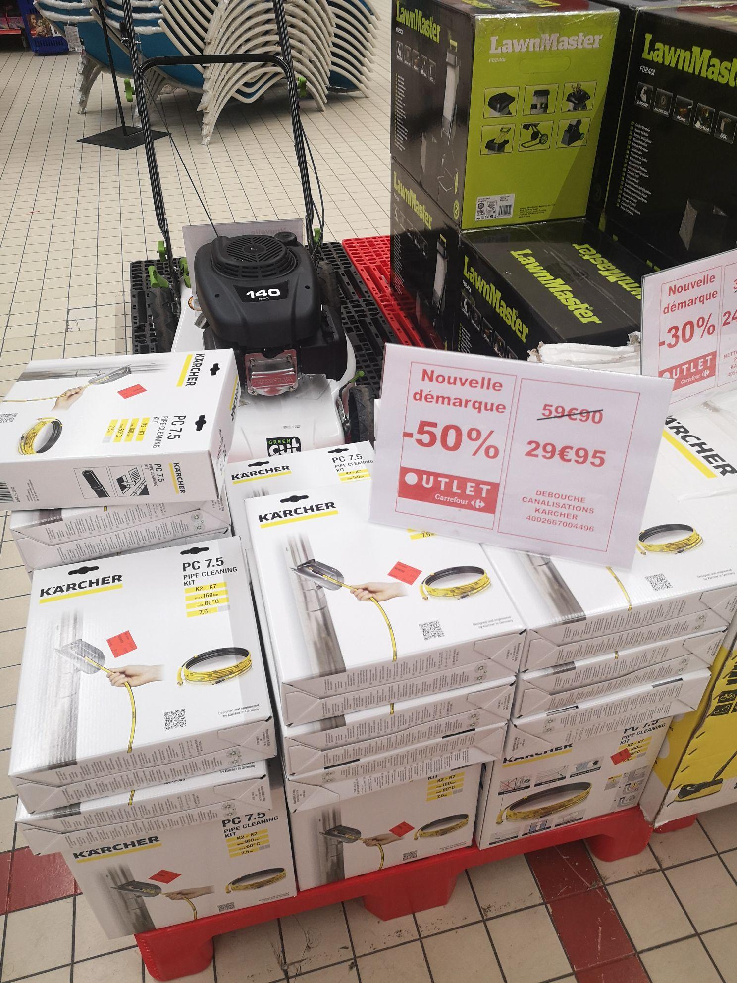 Kit de nettoyage de canalisations et gouttières Karcher 7.5m (Via ODR de 15€) - Lomme (59)